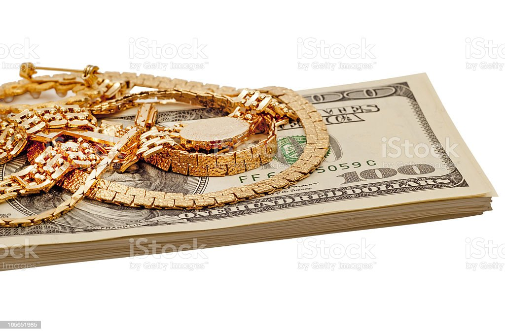 Get Cash For Your Jewelry royalty-free stock photo