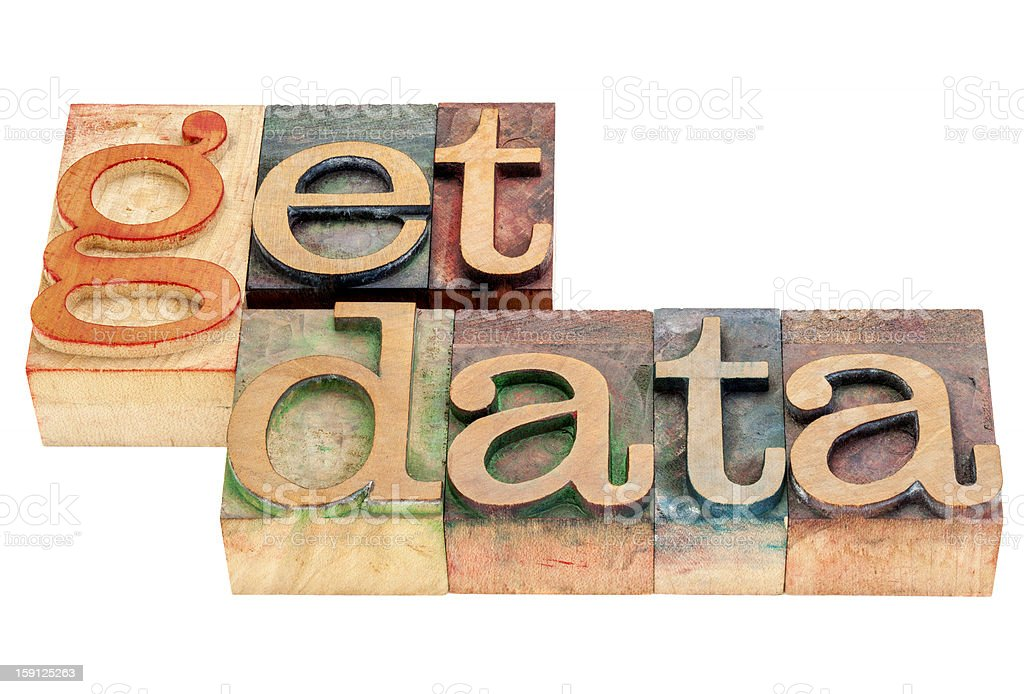 get data in wod type royalty-free stock photo