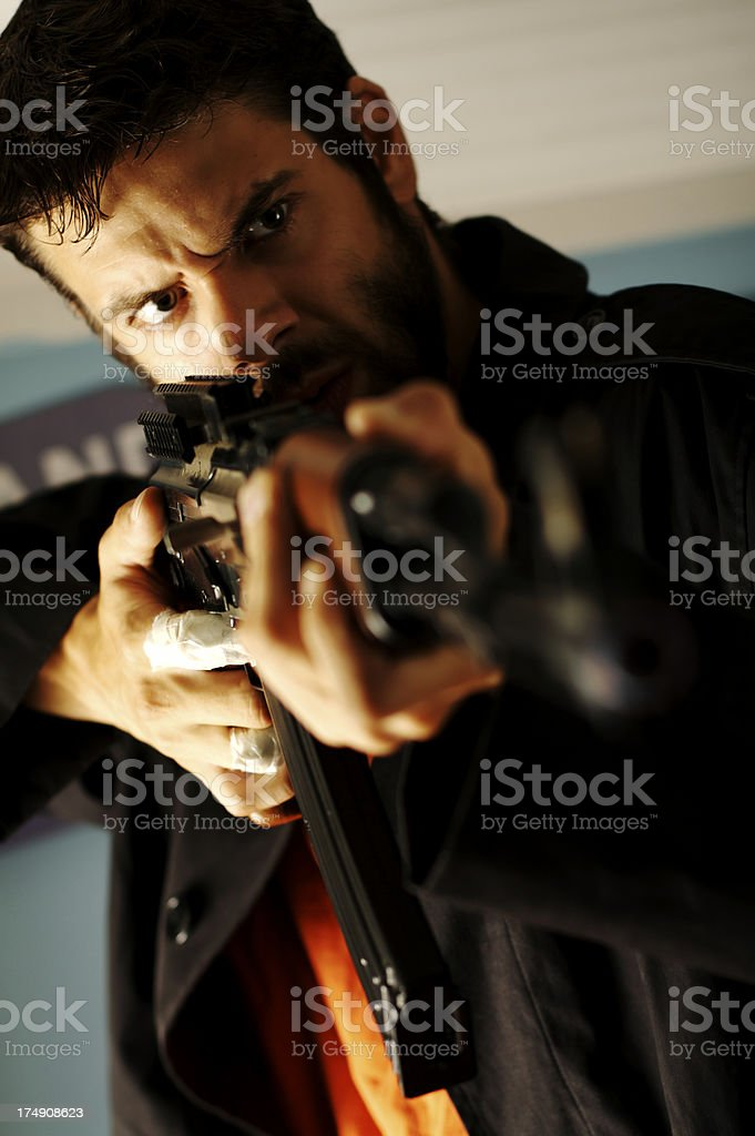 Get Down! stock photo