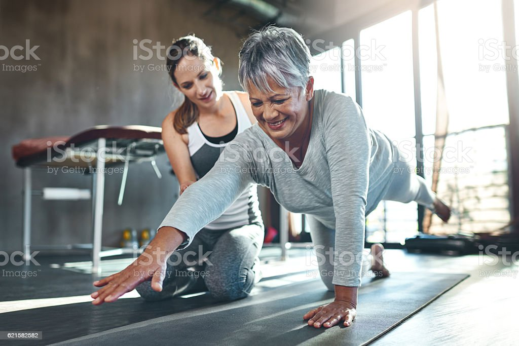 Get fit and have fun while doing it stock photo