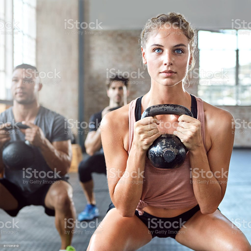 Get fit, get strong stock photo