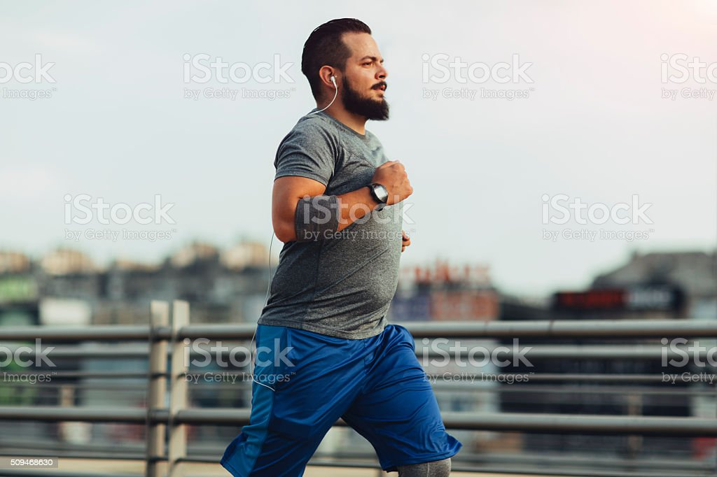 Get fit in the city stock photo