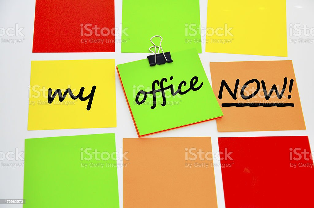 Get into my office royalty-free stock photo