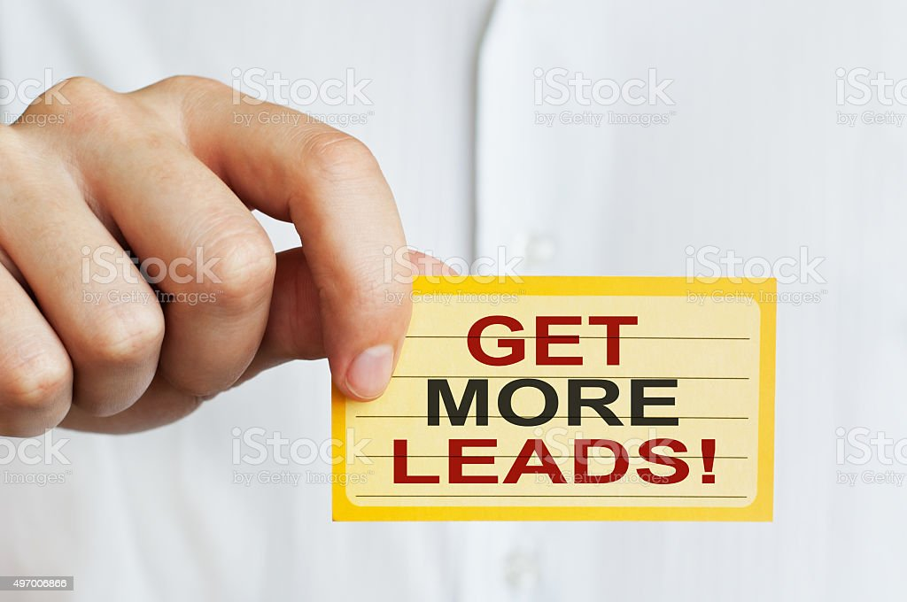 Get more leads! stock photo