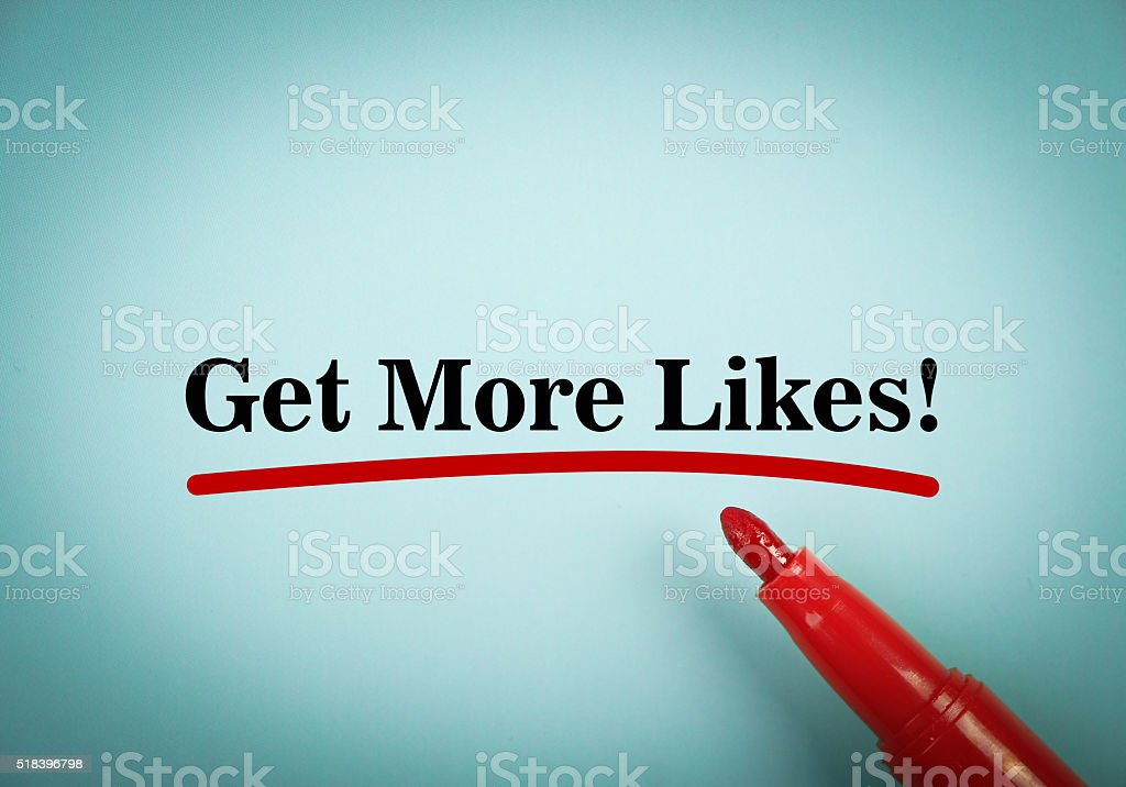 Get more likes stock photo