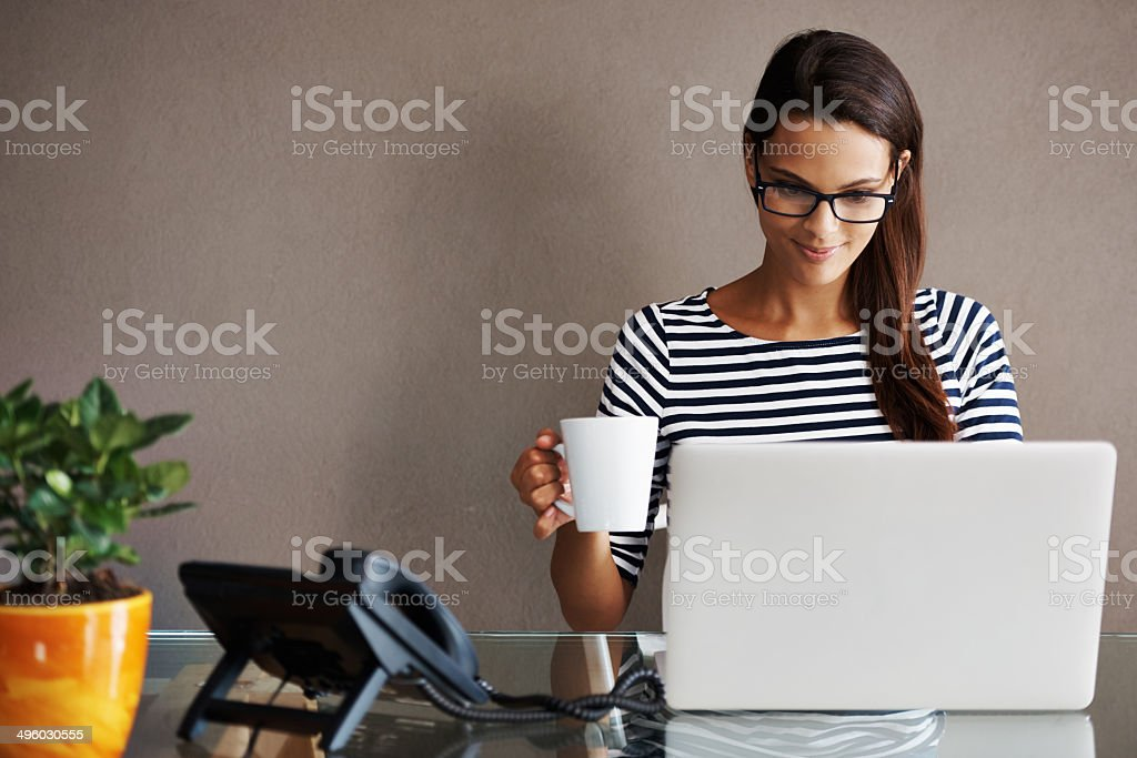 I get my best work done in the mornings stock photo