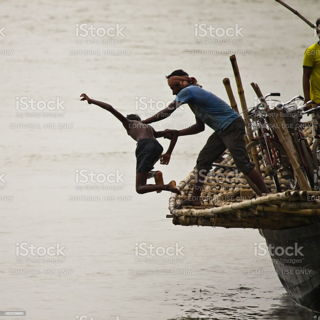 Get off my boat stock photo