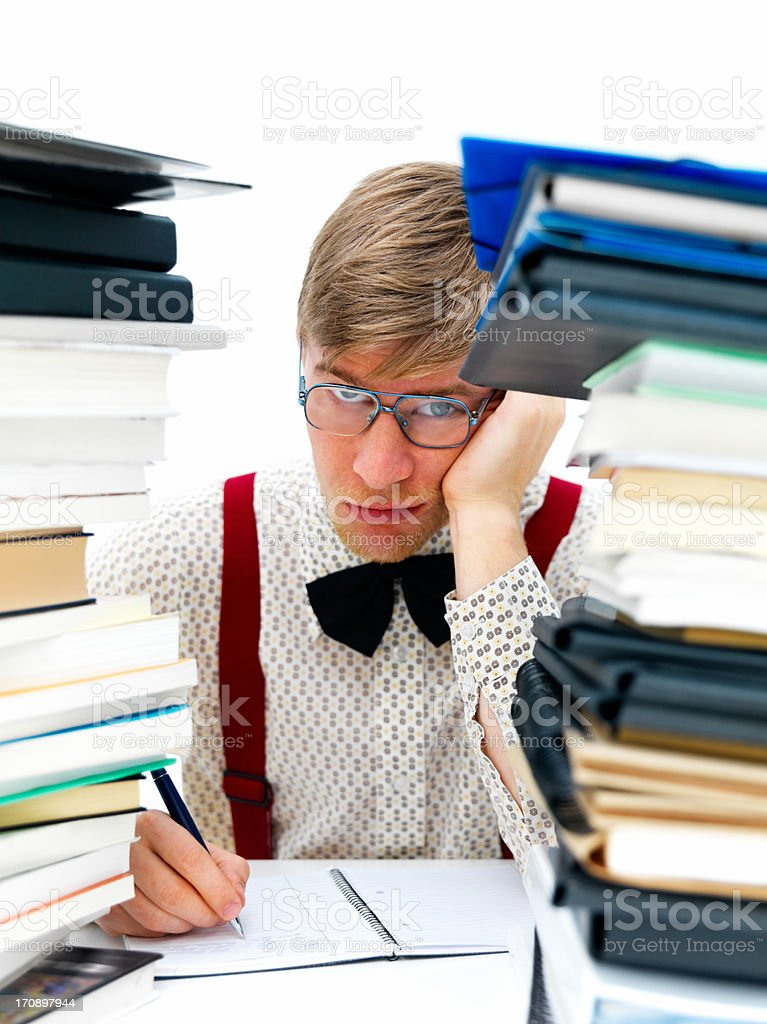 Get out from behind the books for a change! royalty-free stock photo