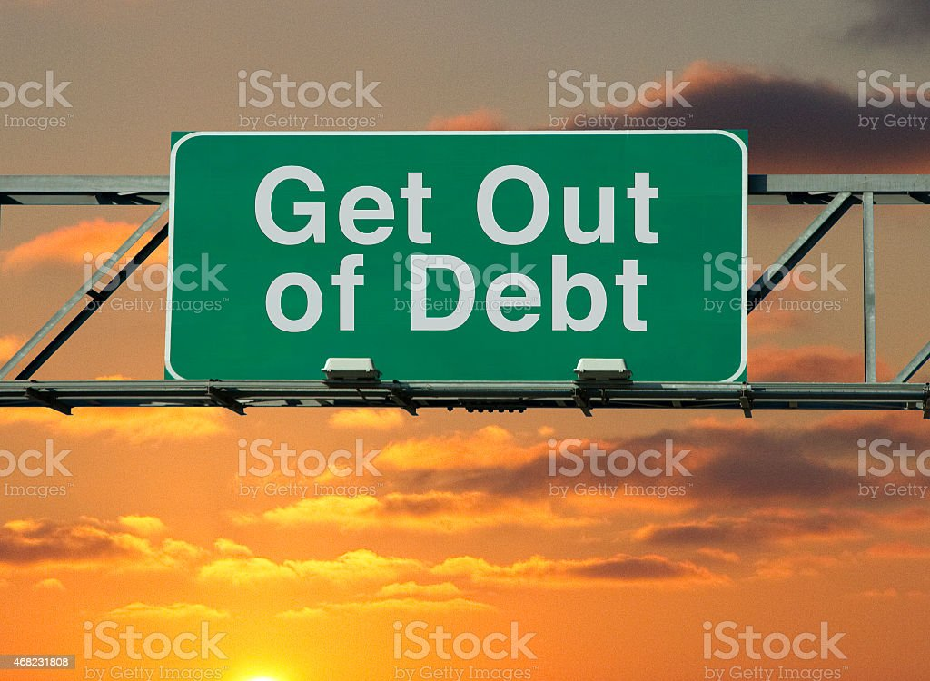 Get Out of Debt stock photo
