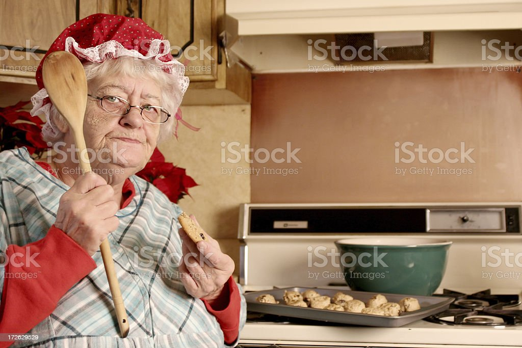 Get out of Mrs Clause's kitchen stock photo