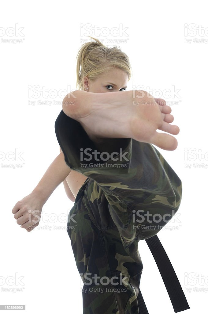 Get out the way royalty-free stock photo