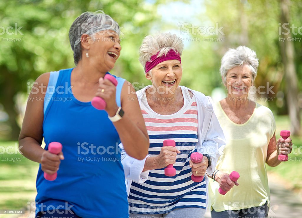Get physical, have fun, feel good stock photo