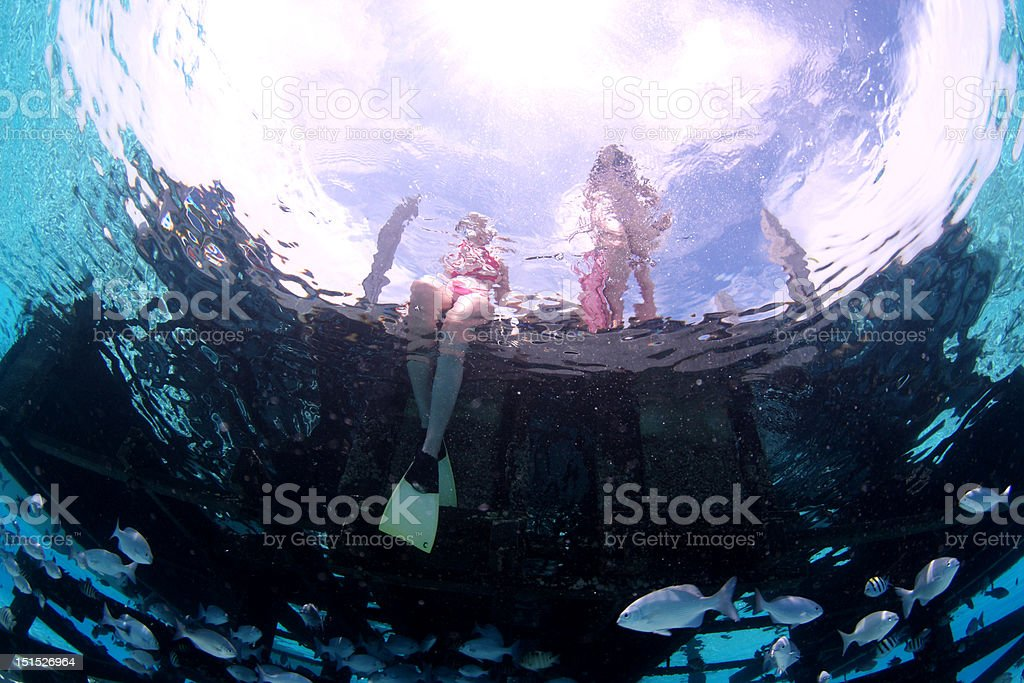Get ready for snorkeling stock photo