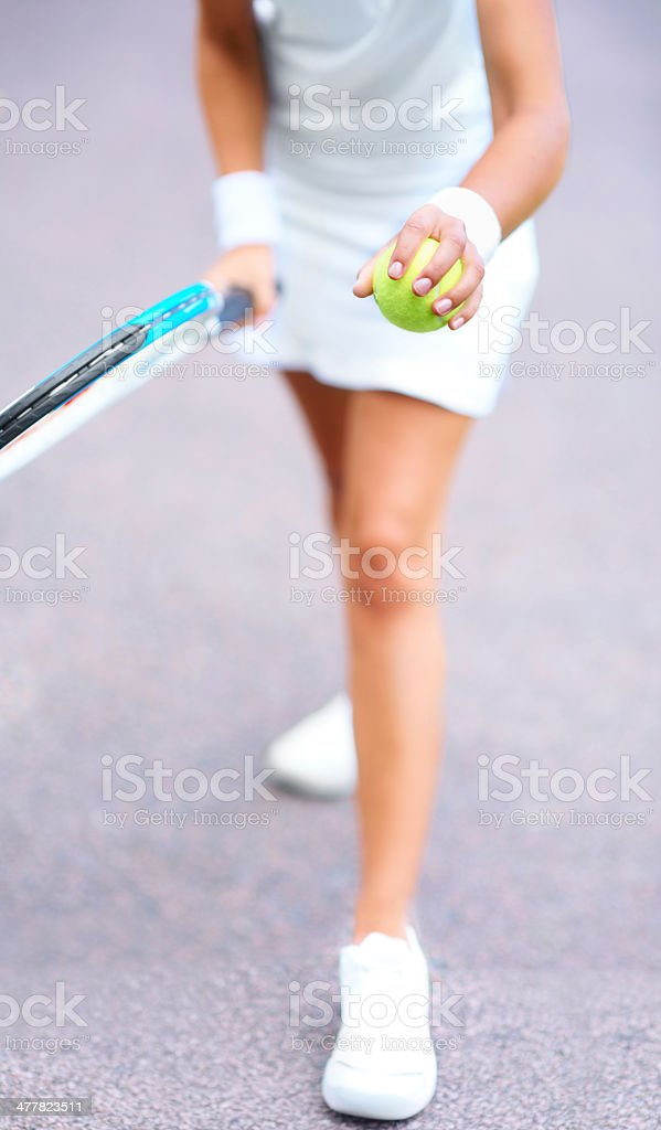 Get ready for the serve royalty-free stock photo