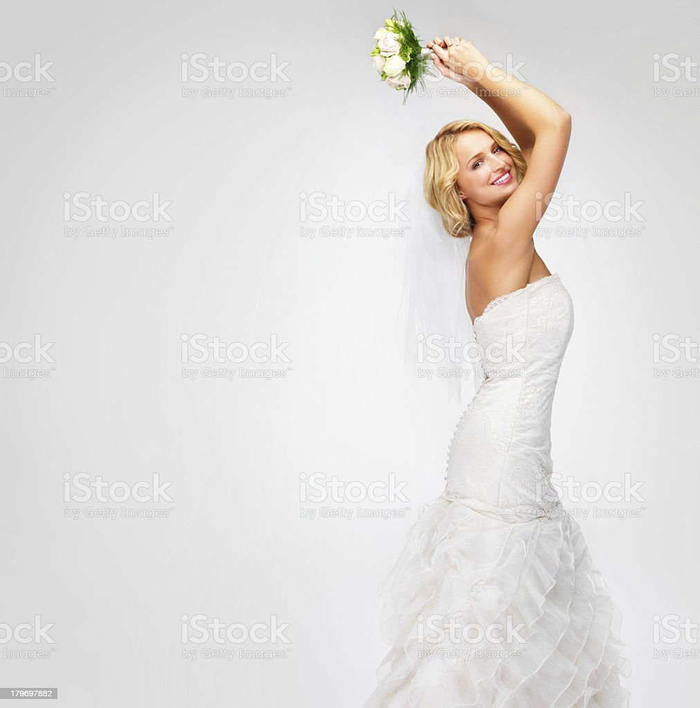 Get ready to catch the bouquet! stock photo