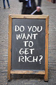 Get rich question with outdoor billboard