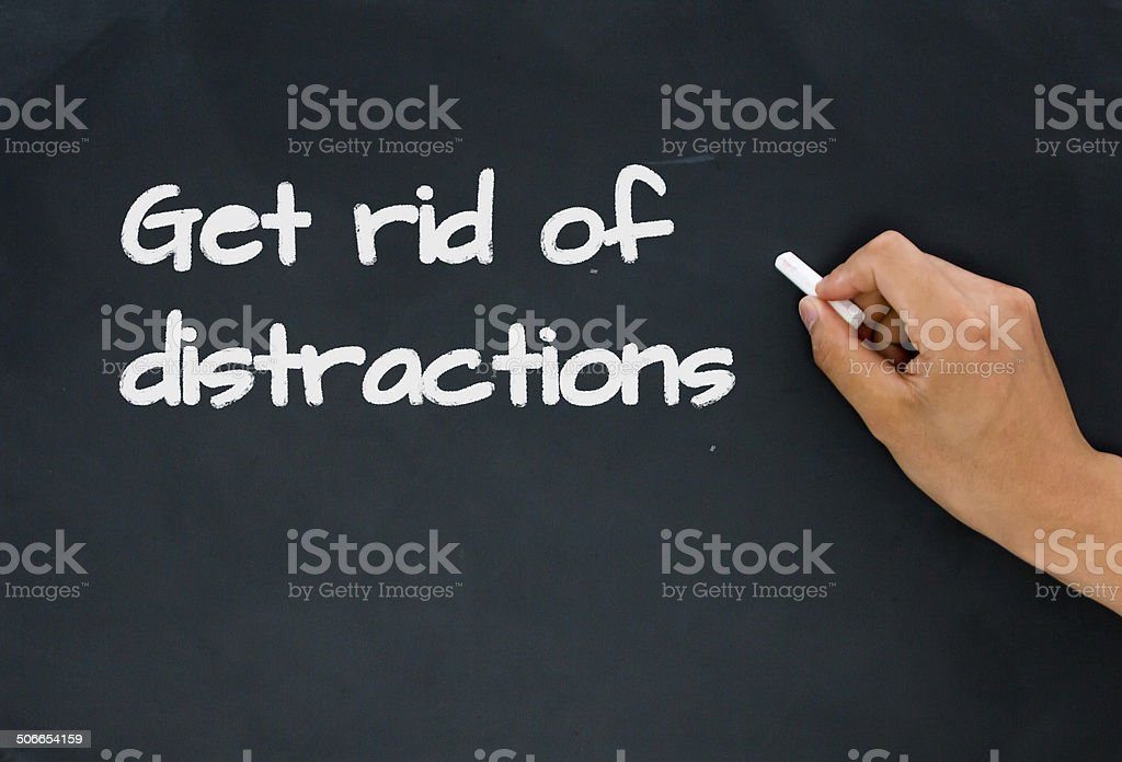 get rid of distractions stock photo