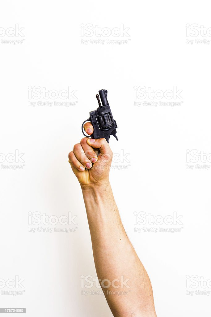 Get set, starter's gun stock photo