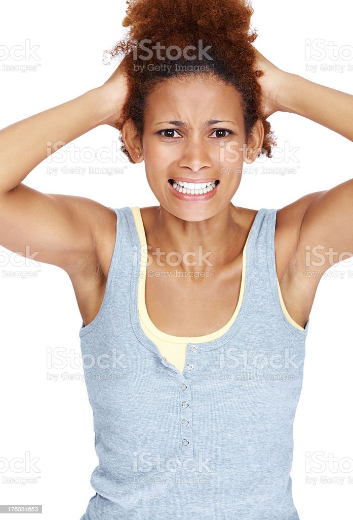 I get so frustrated sometimes! stock photo