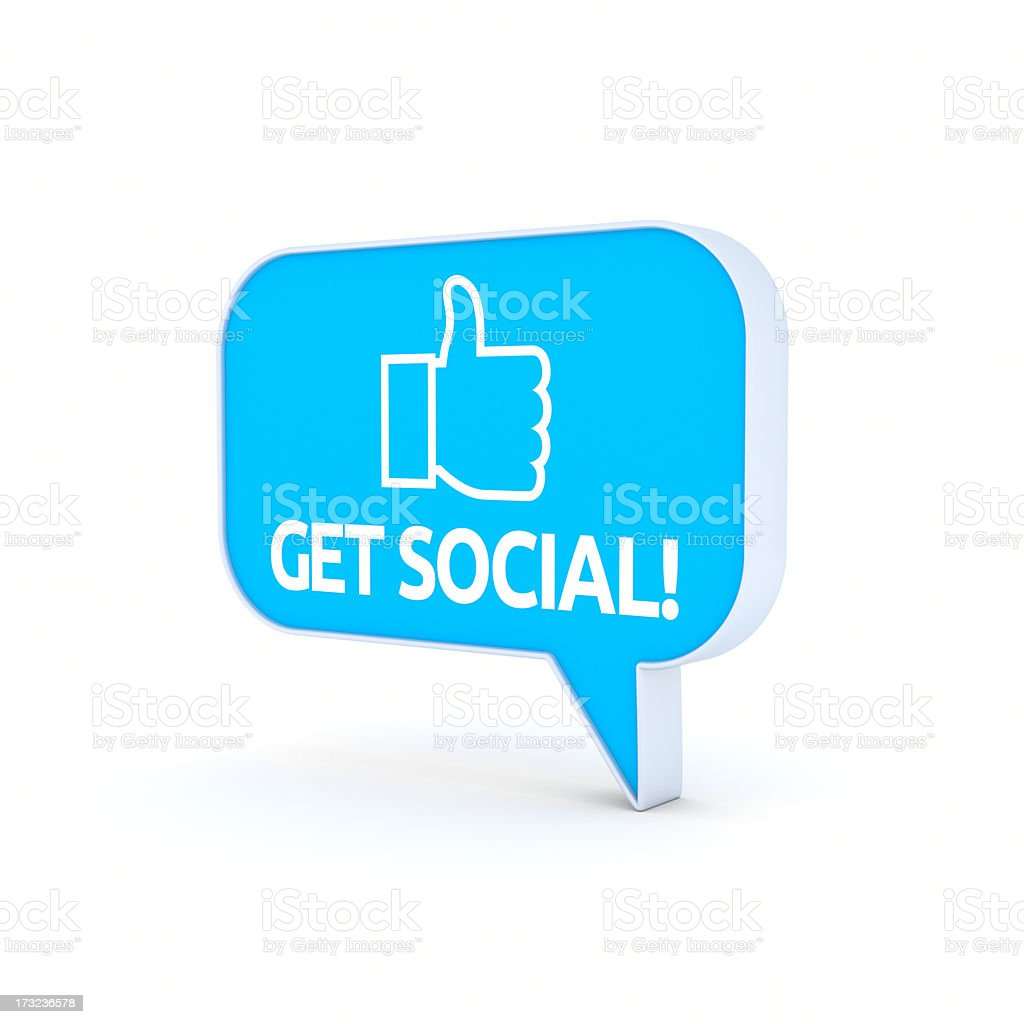 Get Social XL+ stock photo