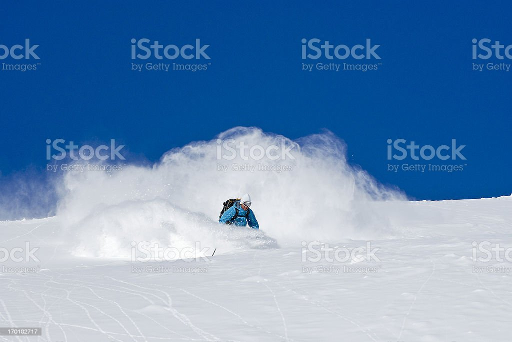 Get Some Fresh Powder royalty-free stock photo