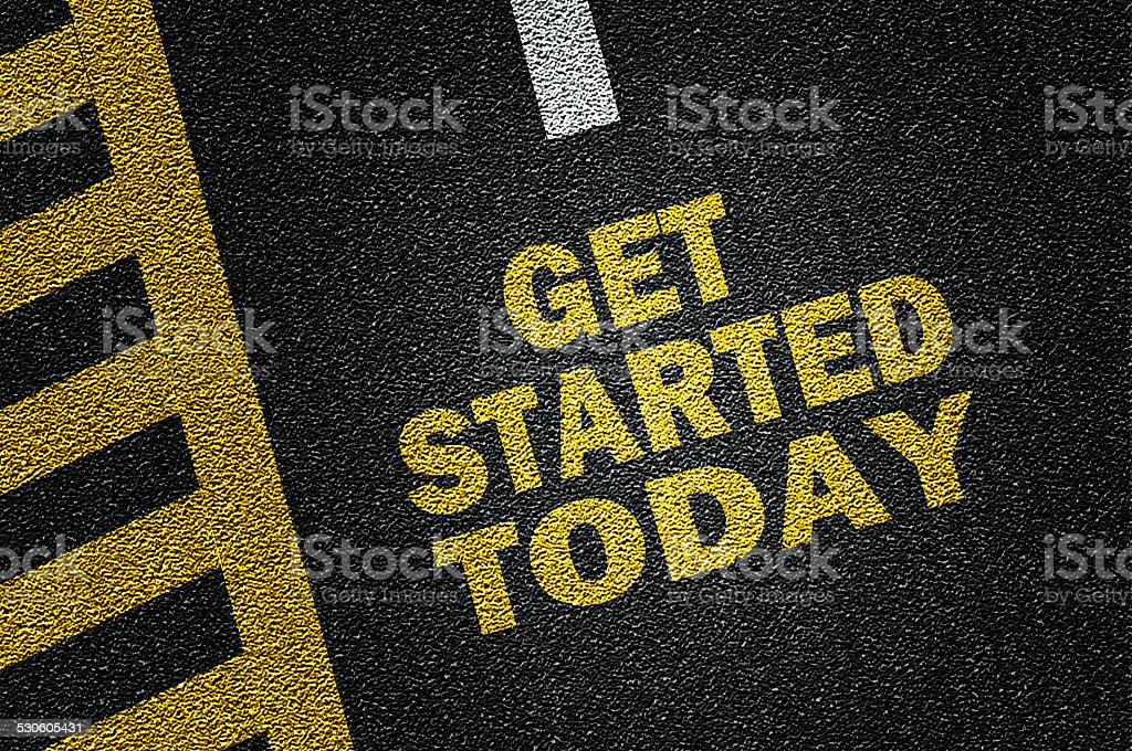 get started today stock photo