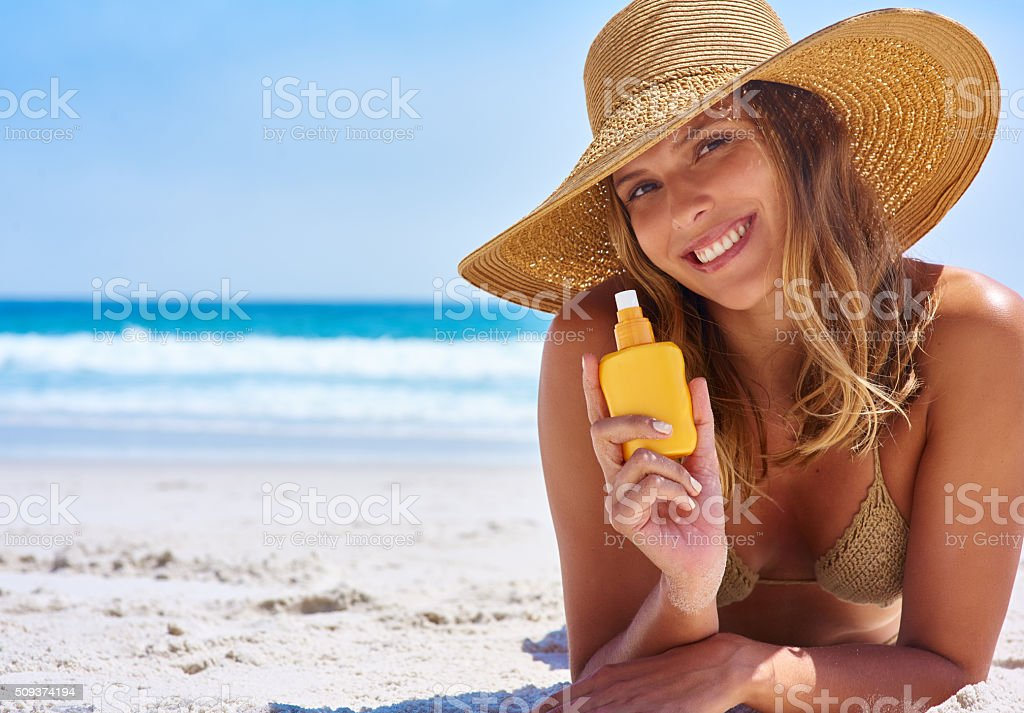 Get sun kissed the smart way stock photo