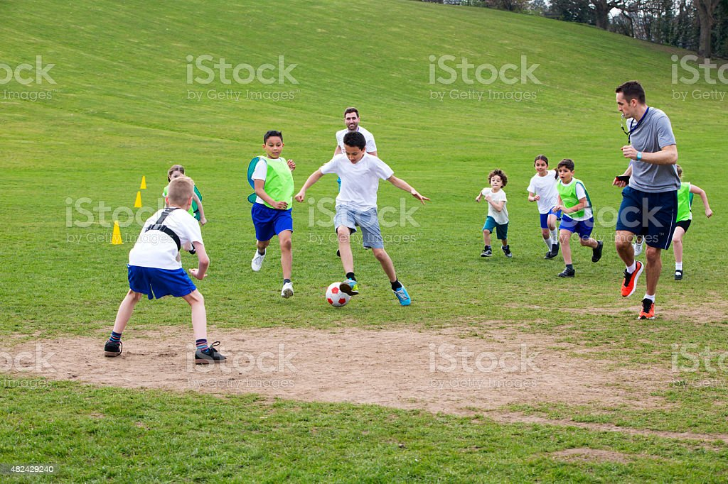 Get The Ball. stock photo