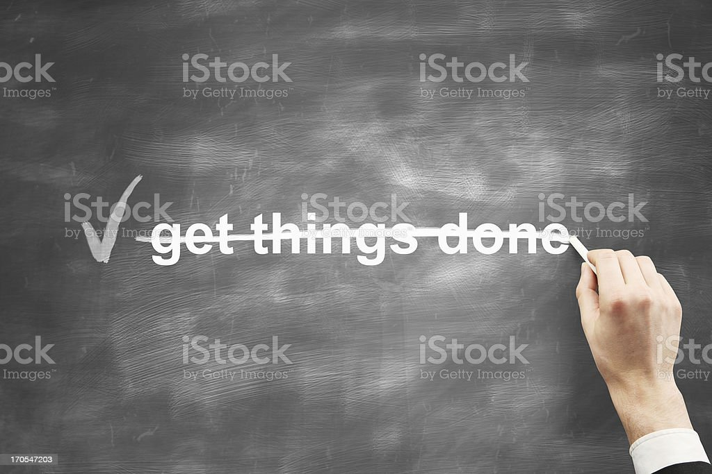 get things done royalty-free stock photo
