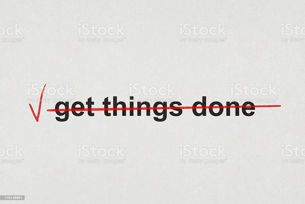 get things done stock photo