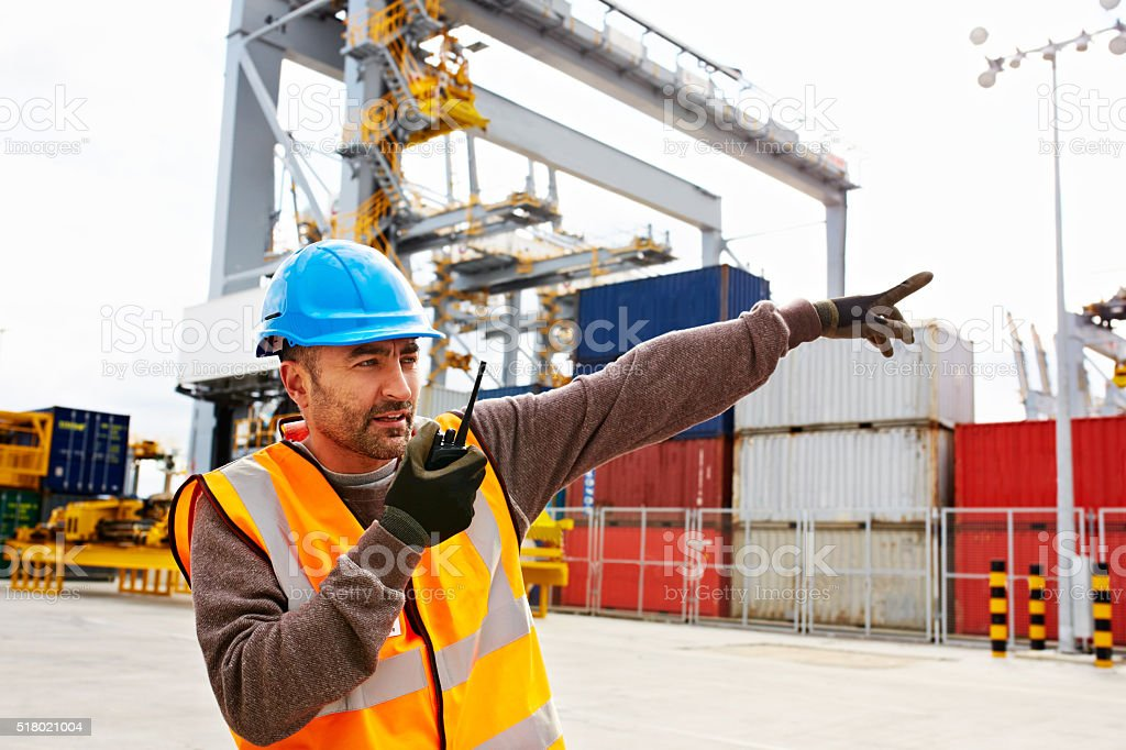 Get those pallets moving stock photo