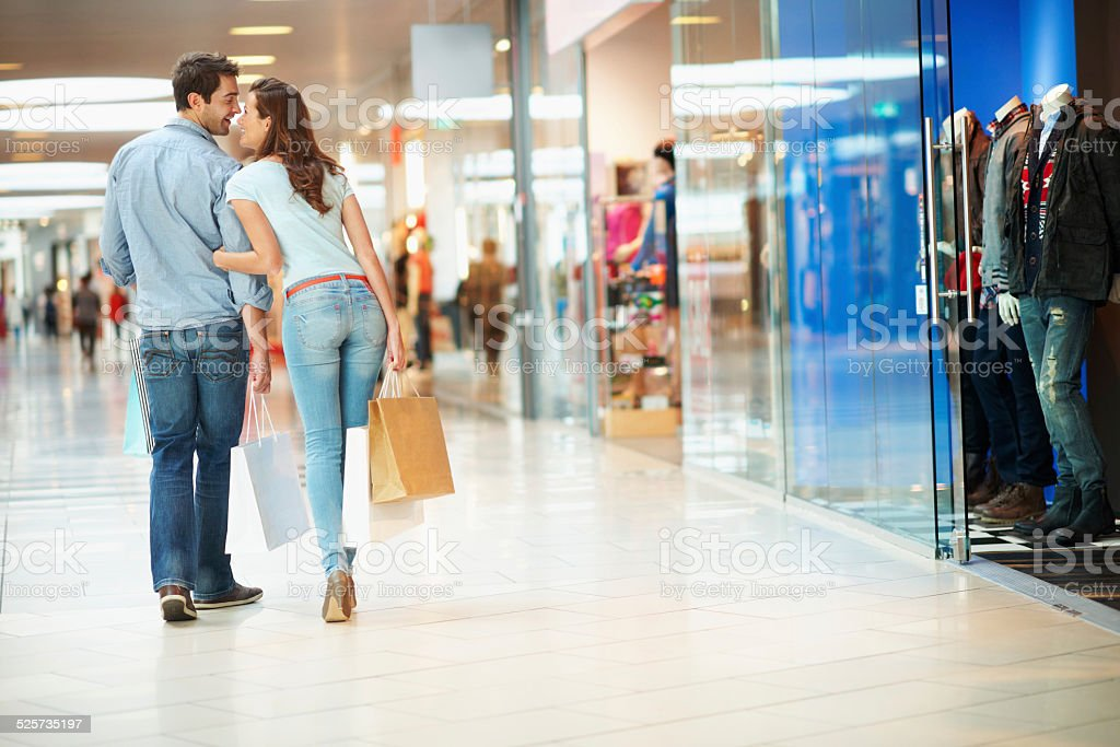 I get to choose the next store! stock photo