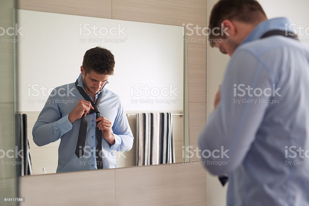 Get up and get dressed for a day of success stock photo