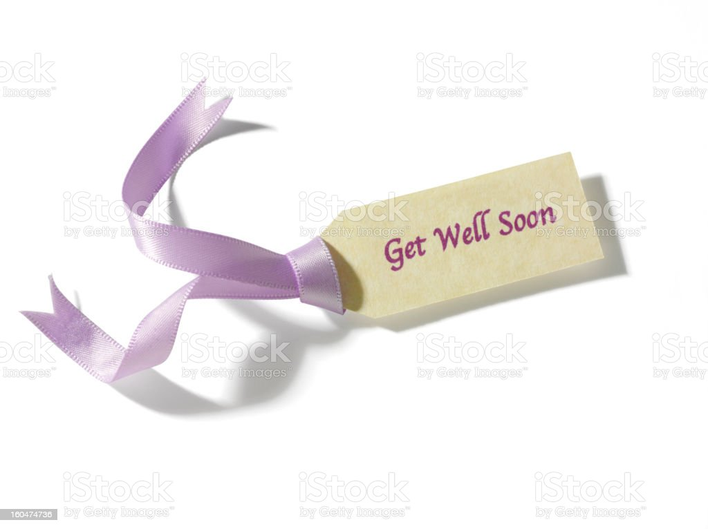 Get Well Soon Label royalty-free stock photo