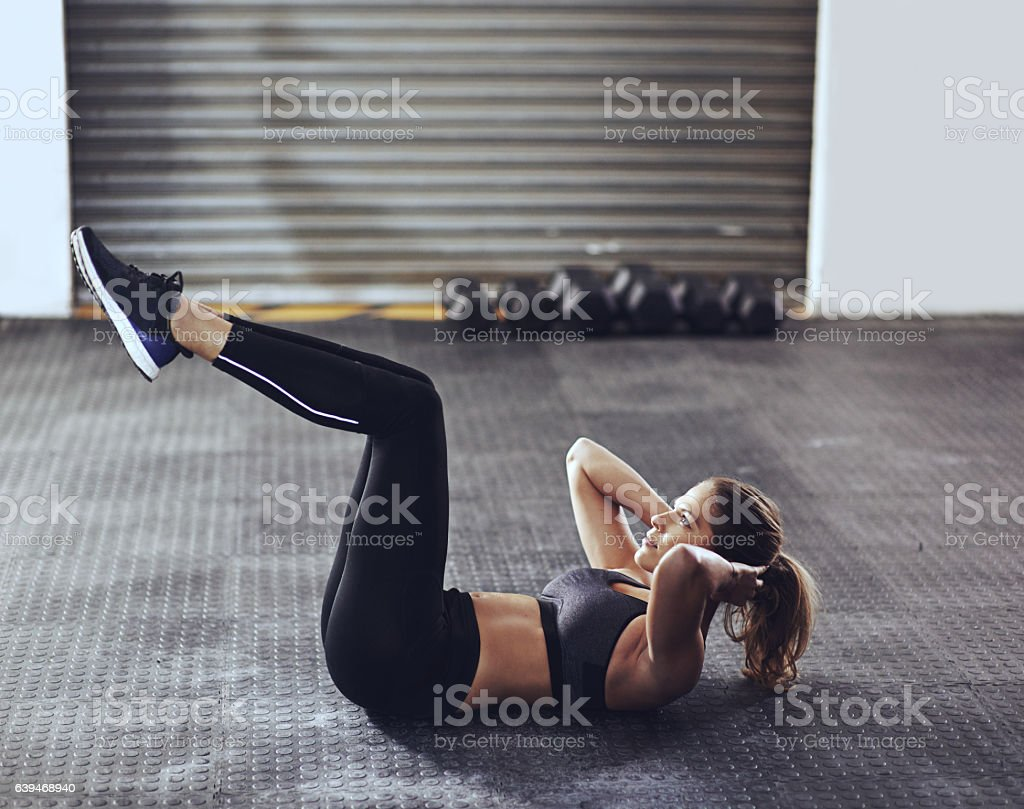 Get your core strength in check stock photo