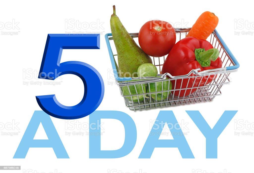 Get your FIVE A DAY stock photo