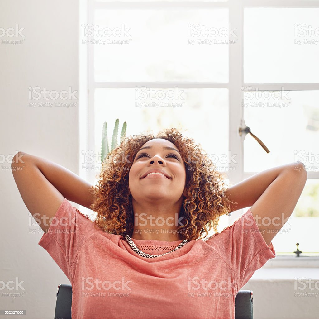 Get yourself in the right set of mind stock photo