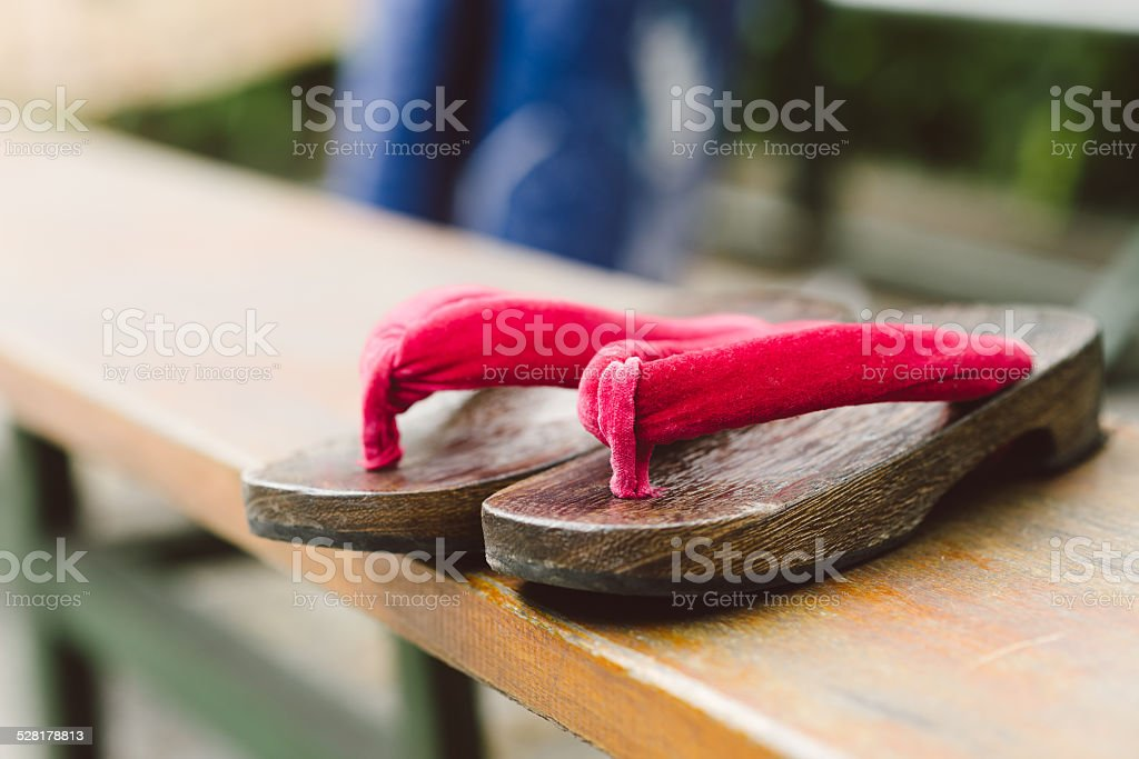 Geta shoes stock photo