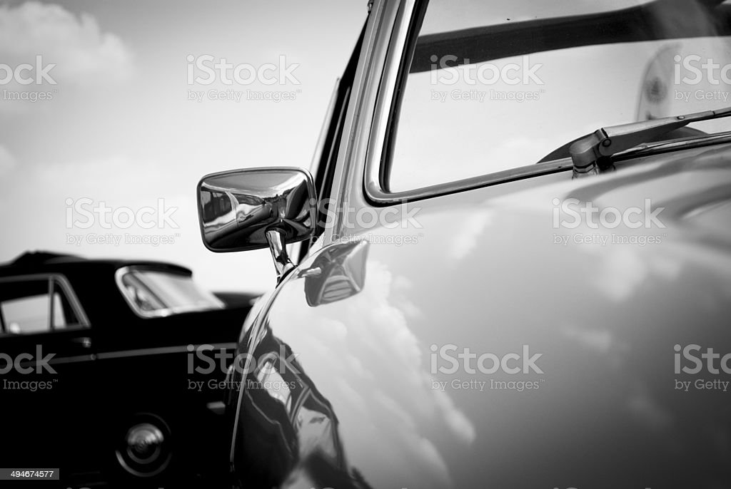Getaway Car black and white royalty-free stock photo