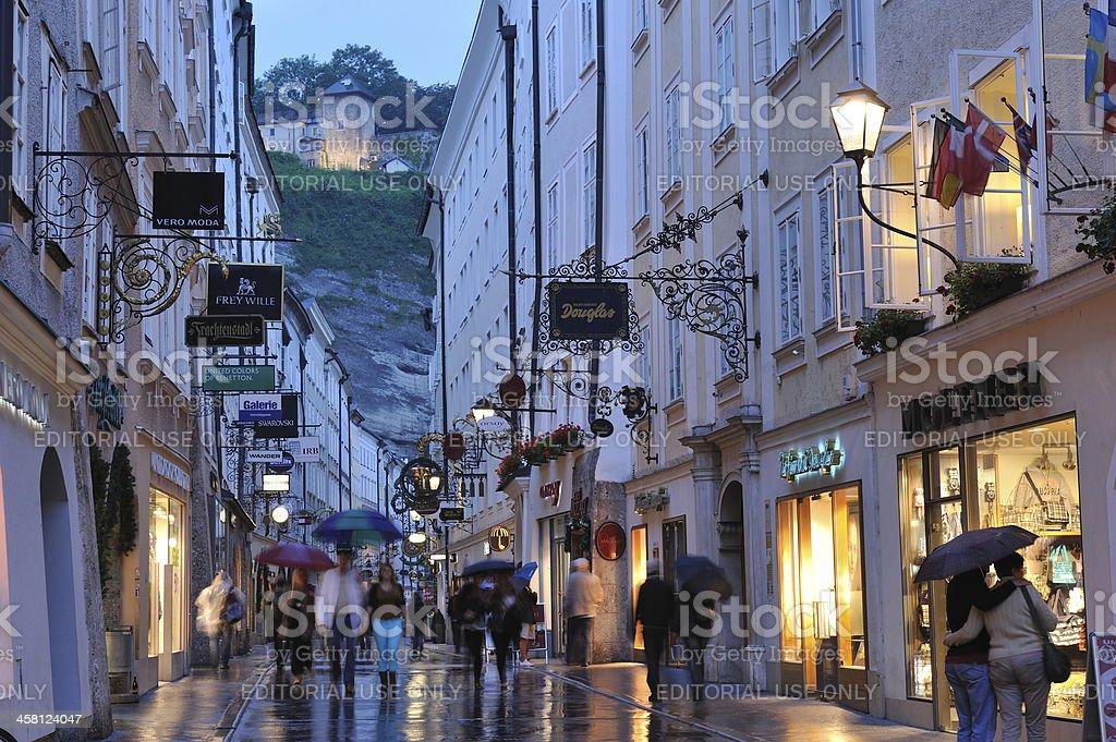 Getreidegasse in Salzburg stock photo