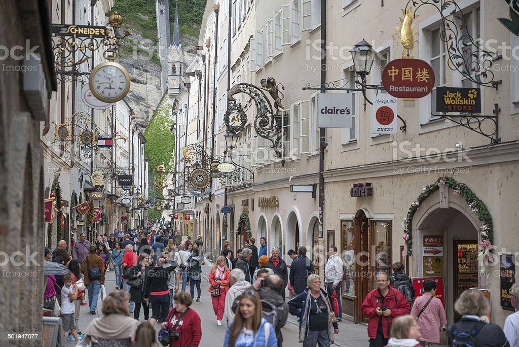 Getreidegasse, Salzburg, Austria stock photo