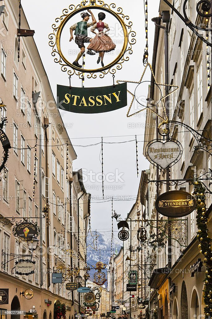 Getreidegasse, Salzburg stock photo