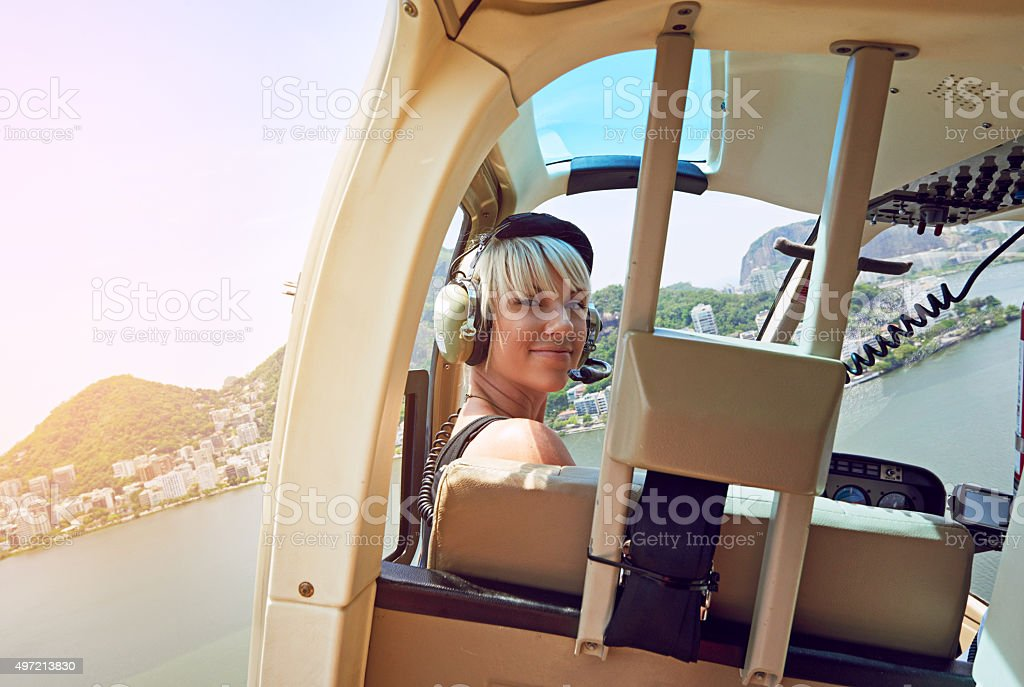 Getting a bird's eye view of Rio stock photo