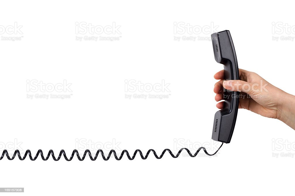 Getting a call stock photo