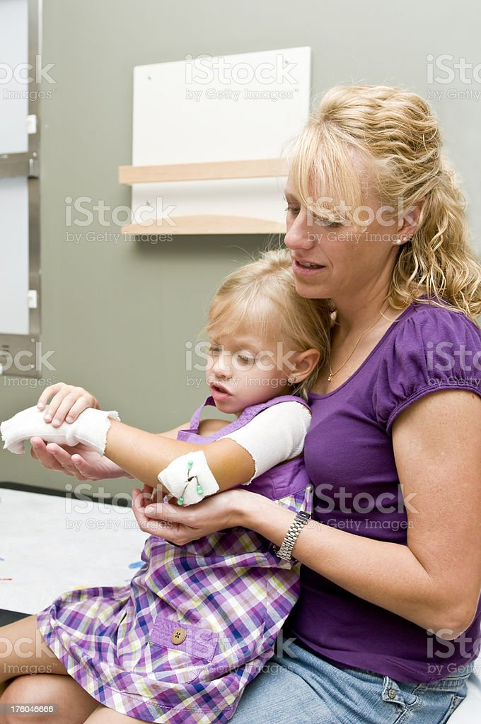 Getting a cast royalty-free stock photo