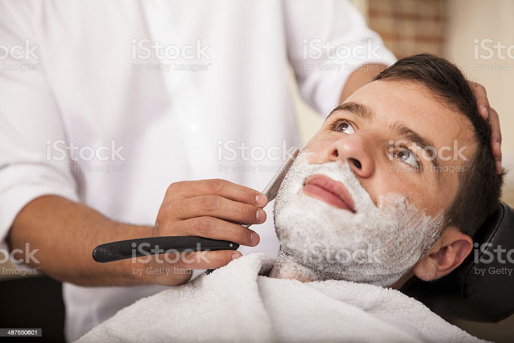Getting a close shave royalty-free stock photo