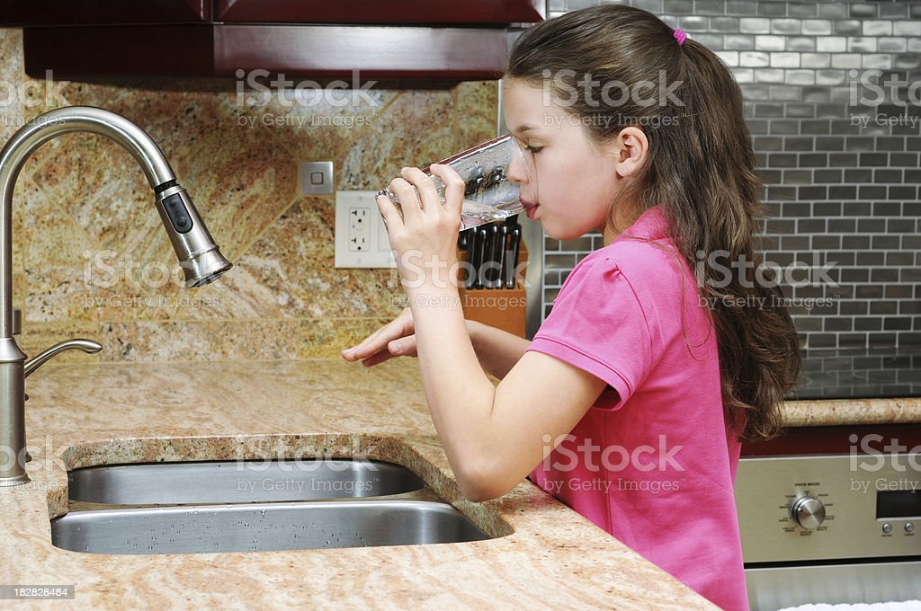 Getting a Drink royalty-free stock photo