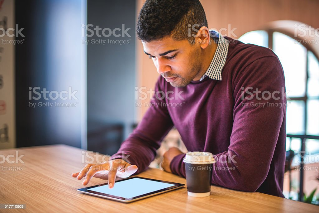 Getting a few emails stock photo
