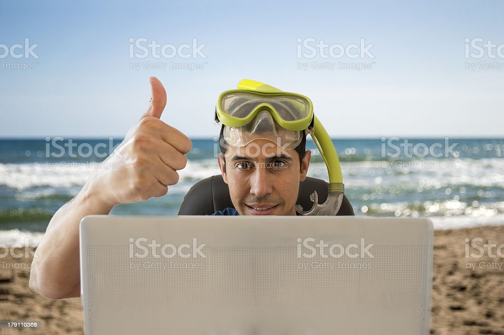 getting a ideal trip on the beach stock photo