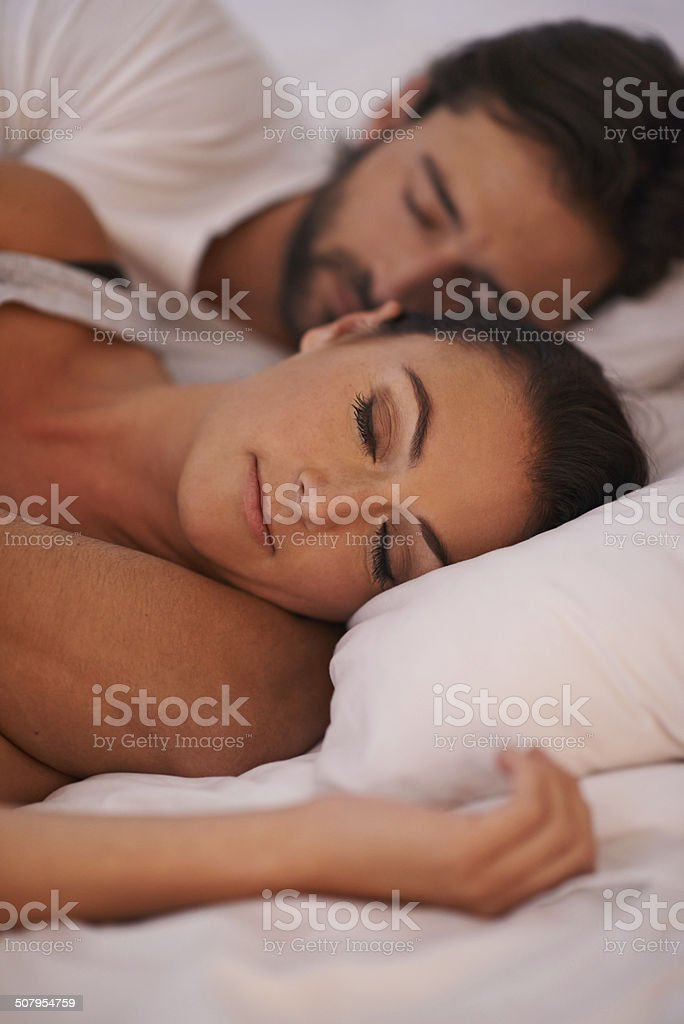 Getting a peaceful night of rest stock photo